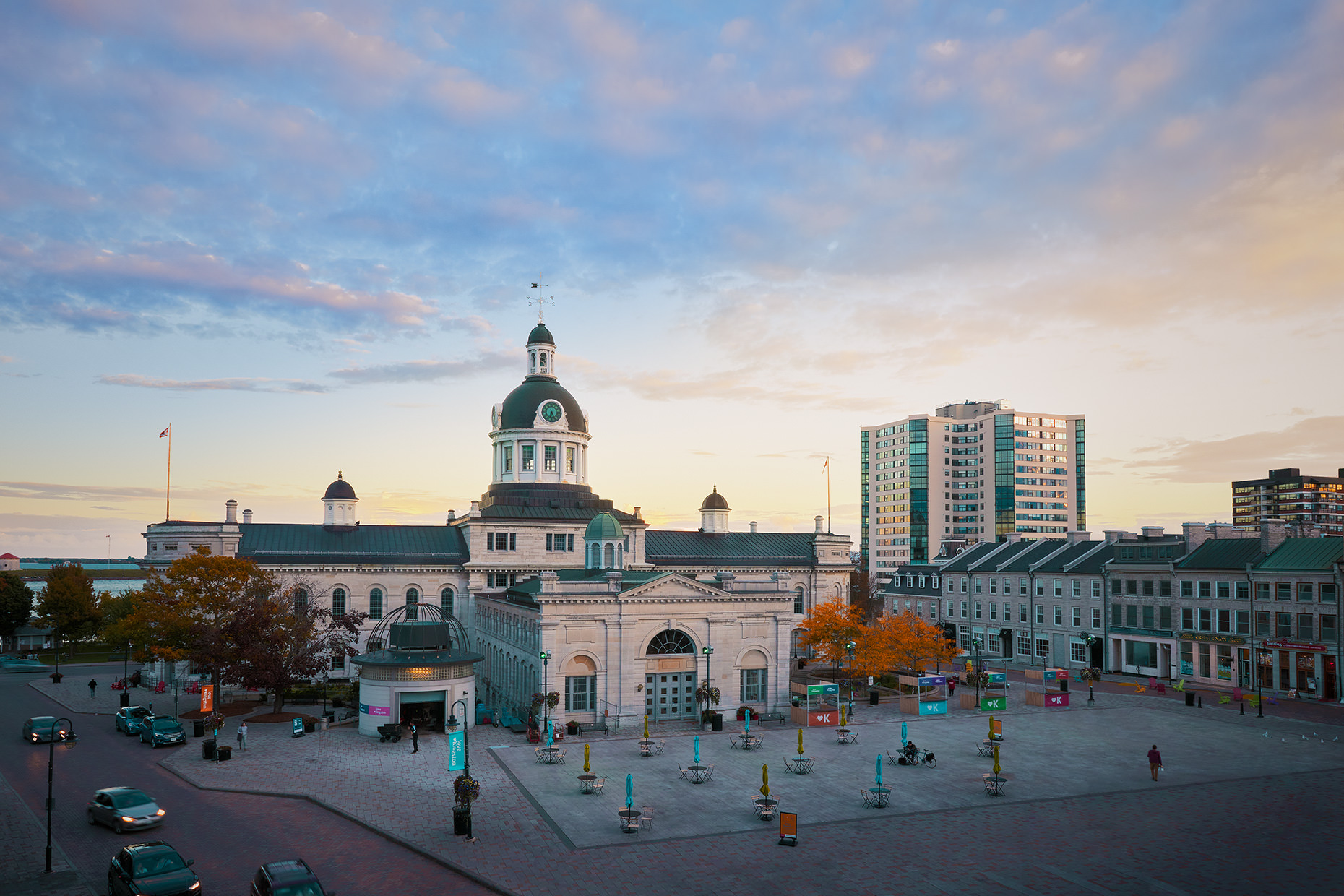 Matthew liteplo took this exterior architecture image of beautiful downtown Kingston Ontario.  As a commercial Photographer, Matthew travels throughout Canada to capture gorgeous images for tourism advertising.