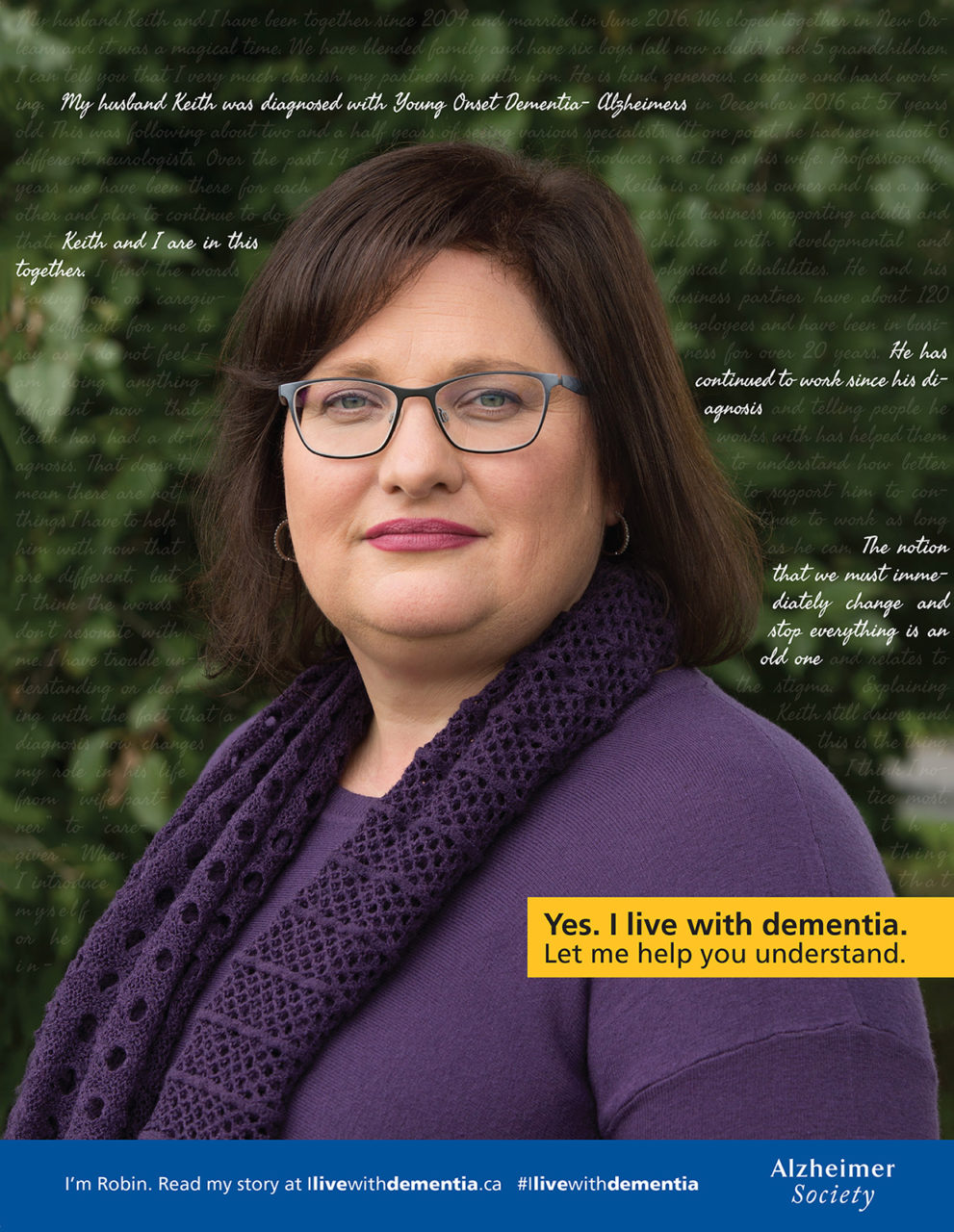 Advertising photographer Matthew Liteplo produced this image as part of a national advertising campaign for Alzheimers Society of Canada. This image had broad usage, like print magazine, online ads, and social media content uses.