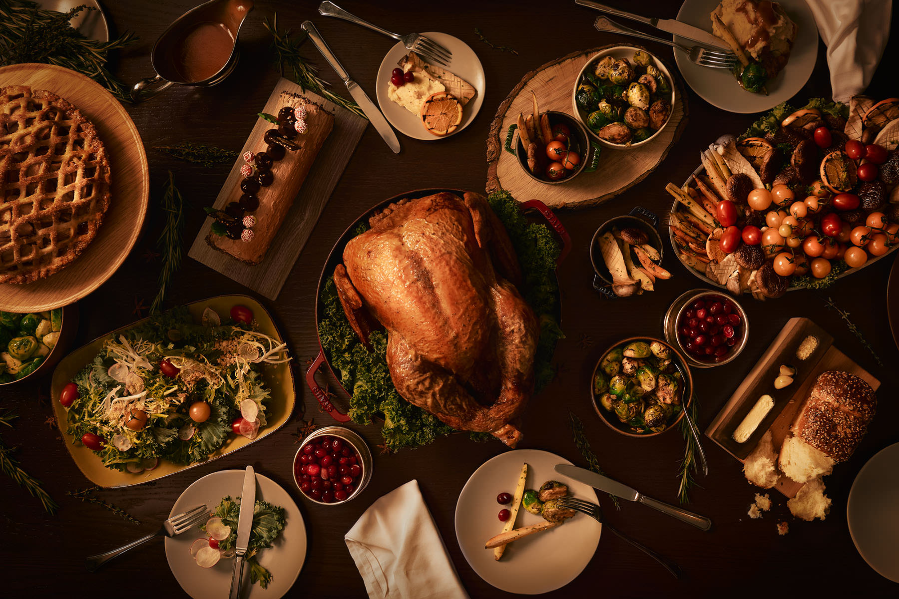 Ottawa food photographer Matthew Liteplo captures this stunning flat lay of a holiday food promotion. It was used in print brochures, social media content, and online.