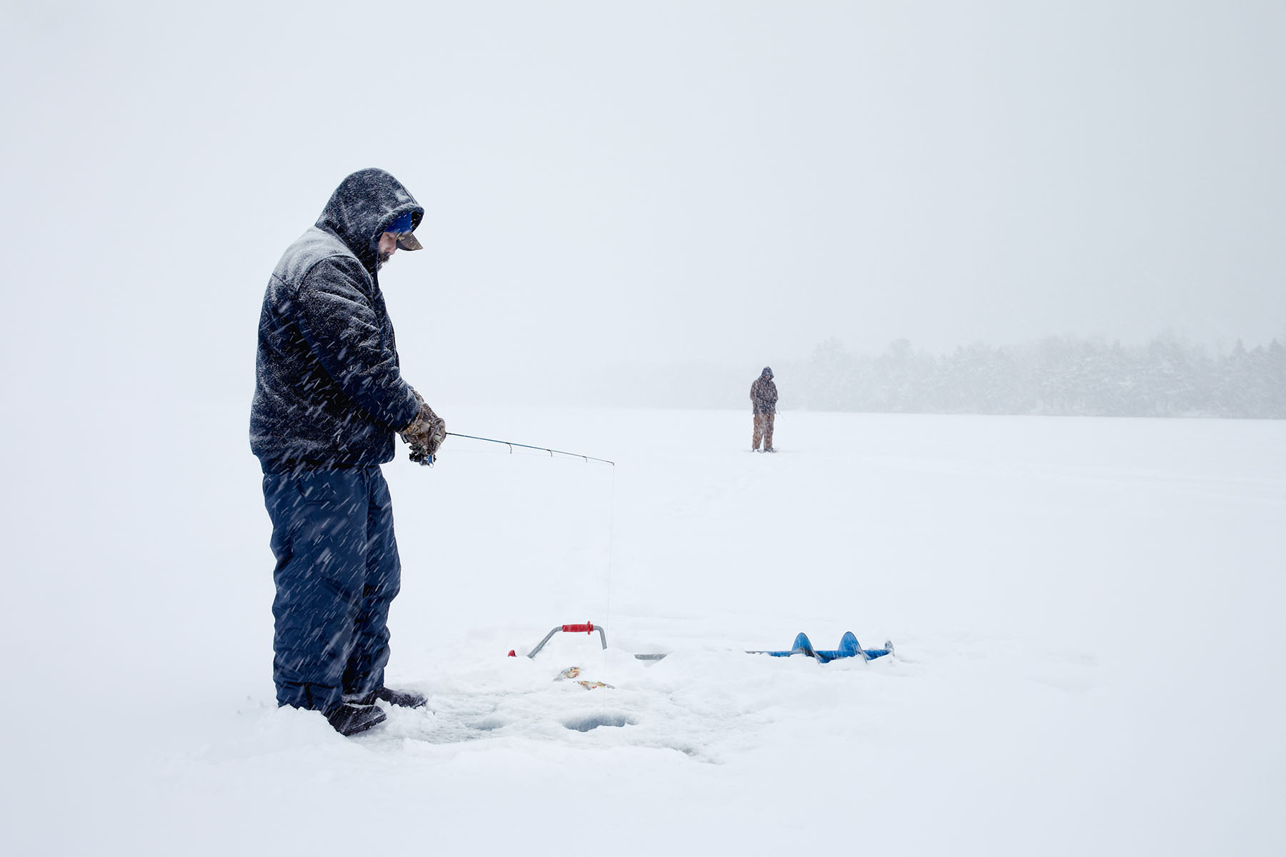 Ice fishing series taken in Smith Falls Ontario. Matthew Liteplo is an avid outdoorsmen and loves using is professional photography skills to capture interesting images that most people who live in cities don