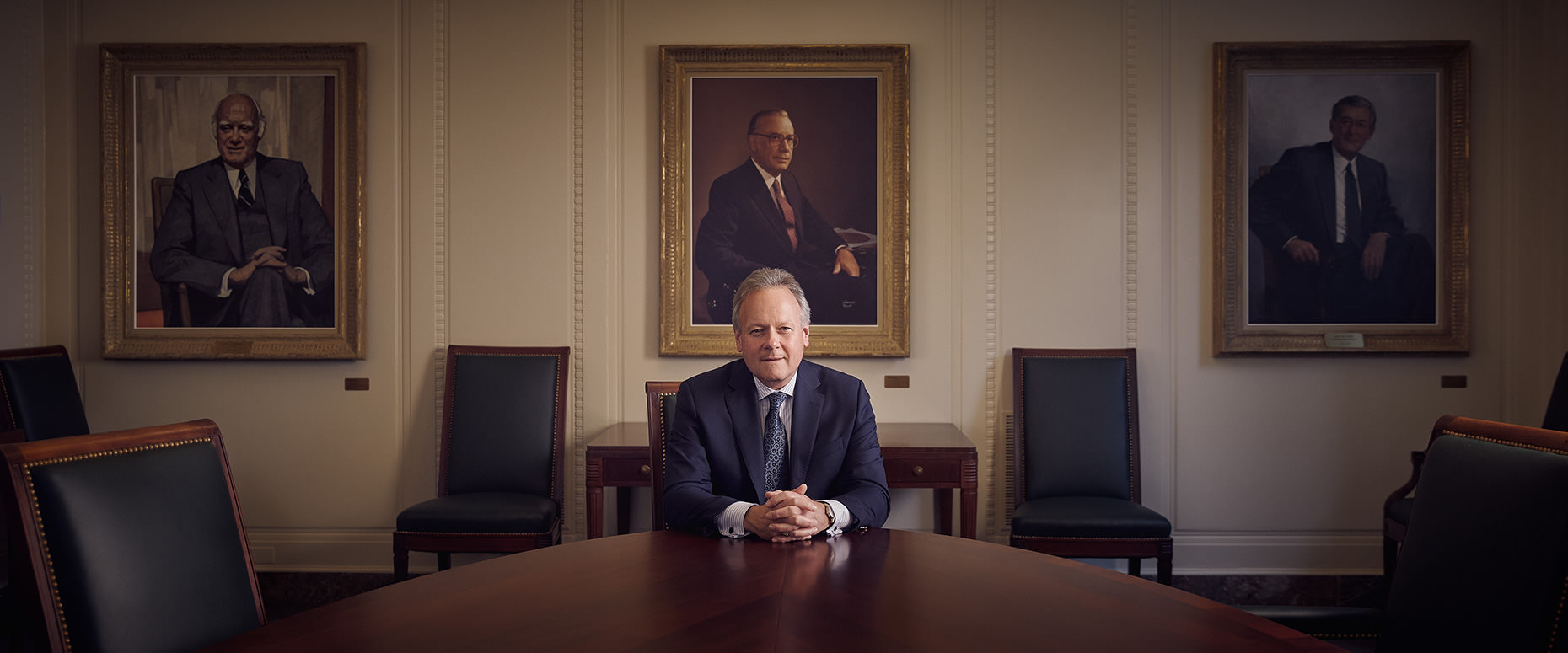 Ottawa corporate photographer &  portrait photographer Matthew Liteplo captured this editorial portrait of the Governor of the Bank of Canada Steven Poloz for Central Banking Magazine in November of 2019.   This strong portait of a Canadian Government Official shots creates a strong narrative between Steve and his predecessors.